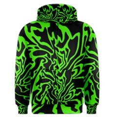 Green and black Men s Zipper Hoodie