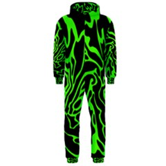 Green and black Hooded Jumpsuit (Men)