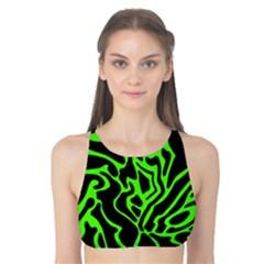 Green and black Tank Bikini Top