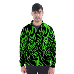 Green and black Wind Breaker (Men)