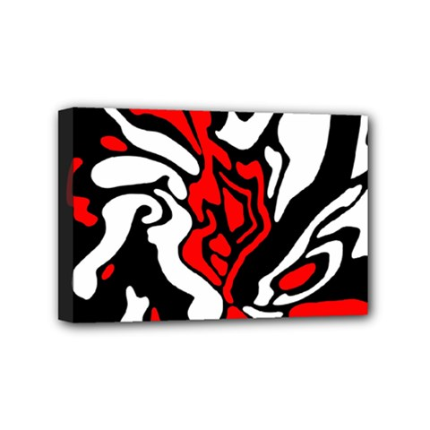 Red, black and white decor Mini Canvas 6  x 4