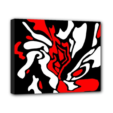 Red, black and white decor Canvas 10  x 8