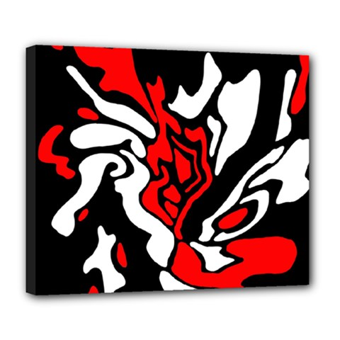 Red, black and white decor Deluxe Canvas 24  x 20