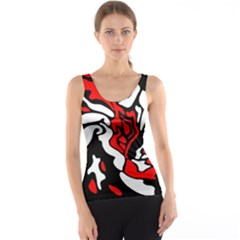 Red, black and white decor Tank Top
