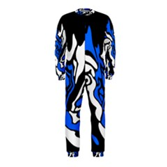 Blue, black and white decor OnePiece Jumpsuit (Kids)