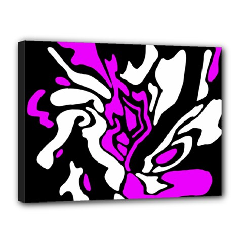Purple, white and black decor Canvas 16  x 12