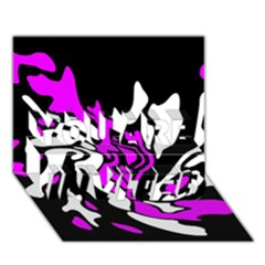Purple, white and black decor YOU ARE INVITED 3D Greeting Card (7x5)
