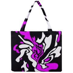 Purple, white and black decor Mini Tote Bag