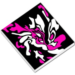 Magenta, black and white decor Small Memo Pads