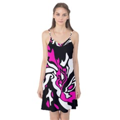 Magenta, black and white decor Camis Nightgown