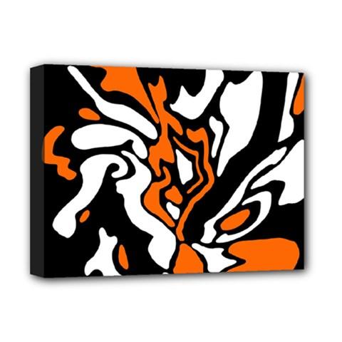 Orange, white and black decor Deluxe Canvas 16  x 12