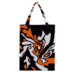 Orange, white and black decor Classic Tote Bag