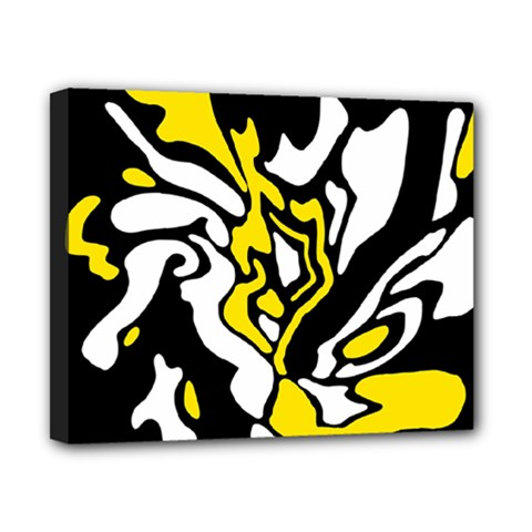 Yellow, black and white decor Canvas 10  x 8