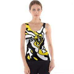 Yellow, black and white decor Tank Top