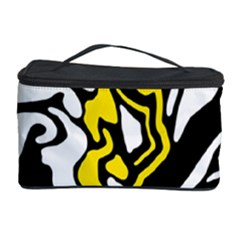 Yellow, black and white decor Cosmetic Storage Case