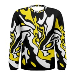 Yellow, black and white decor Men s Long Sleeve Tee