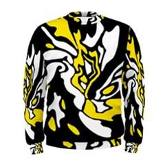Yellow, black and white decor Men s Sweatshirt