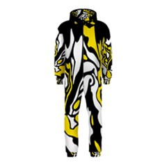 Yellow, black and white decor Hooded Jumpsuit (Kids)
