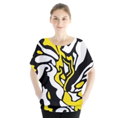 Yellow, Black And White Decor Blouse