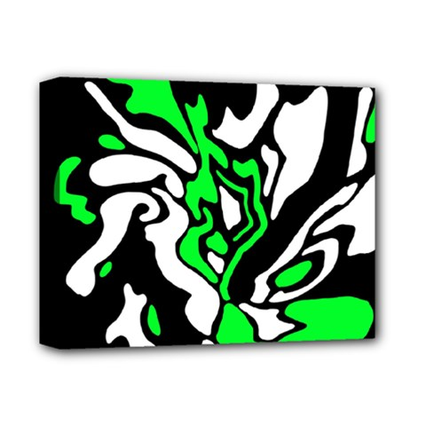 Green, white and black decor Deluxe Canvas 14  x 11