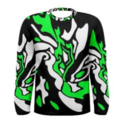 Green, white and black decor Men s Long Sleeve Tee