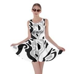 Gray, black and white decor Skater Dress
