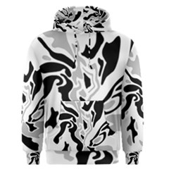Gray, black and white decor Men s Pullover Hoodie