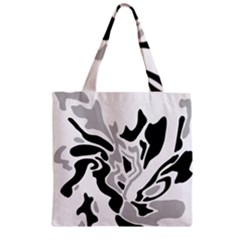 Gray, black and white decor Zipper Grocery Tote Bag