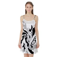 Gray, black and white decor Satin Night Slip