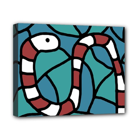 Red snake Canvas 10  x 8