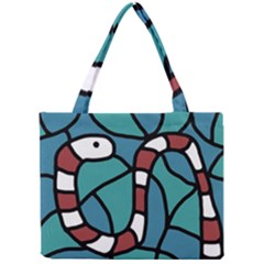 Red snake Mini Tote Bag