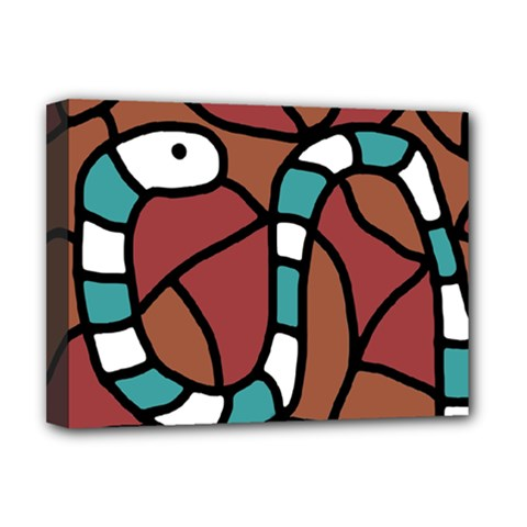 Blue snake Deluxe Canvas 16  x 12