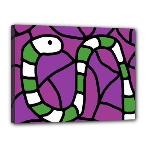 Green snake Canvas 16  x 12