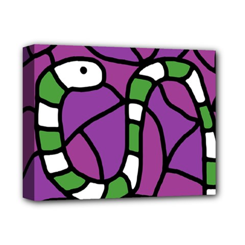 Green snake Deluxe Canvas 14  x 11