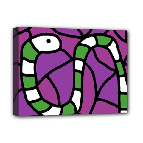Green snake Deluxe Canvas 16  x 12