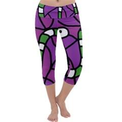 Green snake Capri Yoga Leggings