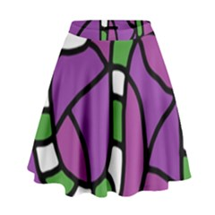 Green snake High Waist Skirt