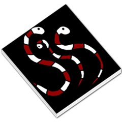 Red snakes Small Memo Pads
