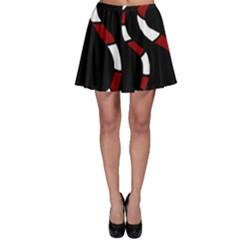 Red snakes Skater Skirt