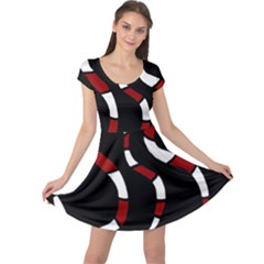 Red snakes Cap Sleeve Dresses