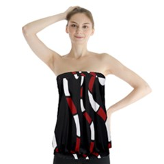 Red snakes Strapless Top