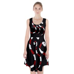 Red snakes Racerback Midi Dress