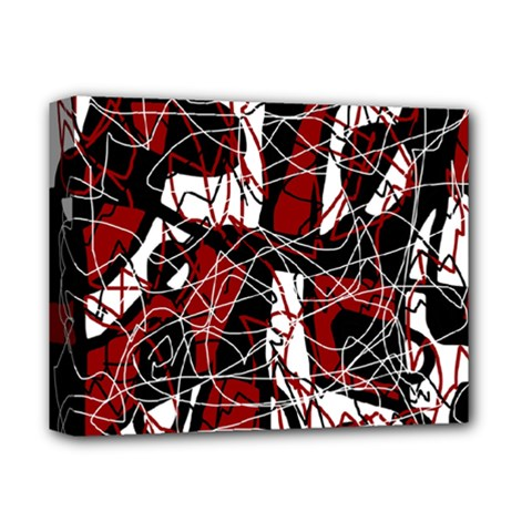 Red black and white abstract high art Deluxe Canvas 14  x 11