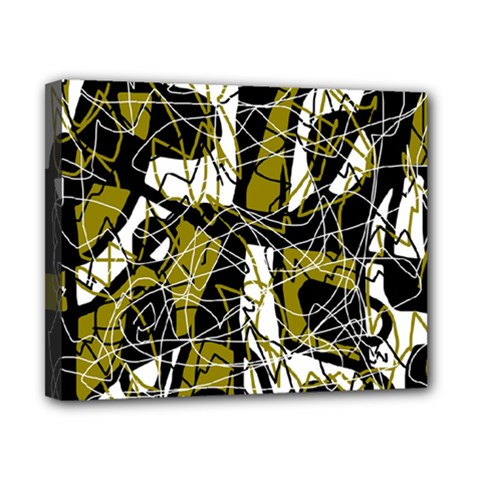 Brown abstract art Canvas 10  x 8