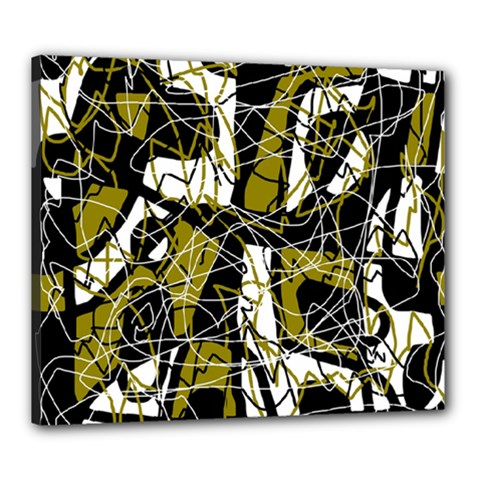 Brown abstract art Canvas 24  x 20