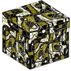Brown abstract art Storage Stool 12