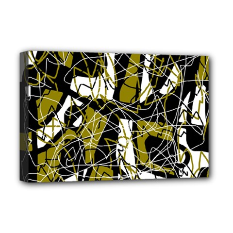 Brown abstract art Deluxe Canvas 18  x 12