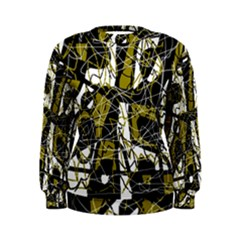 Brown abstract art Women s Sweatshirt
