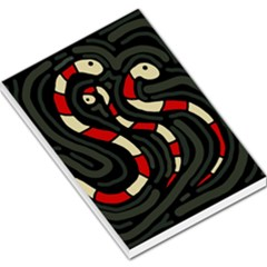 Red snakes Large Memo Pads