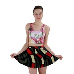 Red snakes Mini Skirt